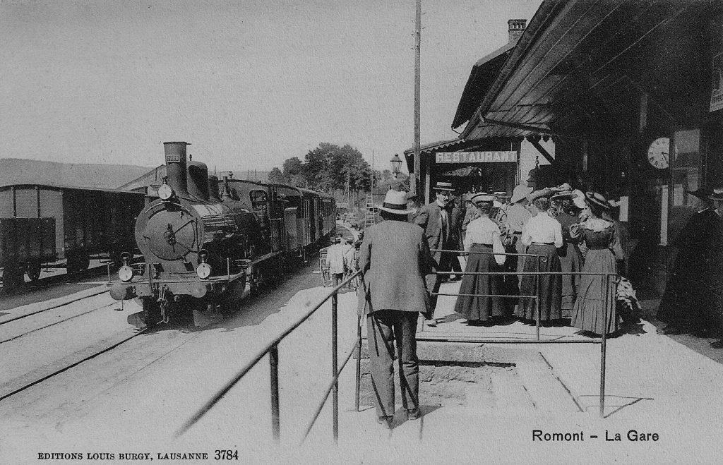 Gare de Romont vers 1910