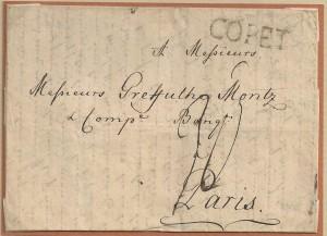 1790 Copet_de Celigny à Paris lettre double 30sols