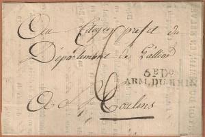 1799 Armée du Rhin 6èDivision Hôpital Militaire de Lausanne
