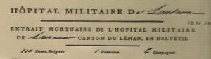 1799 Armée du Rhin Hopital Militaire_entête de la lettre