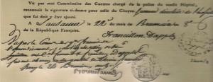 1799 Armée du Rhin Hopital Militaire_Francillon Dapples