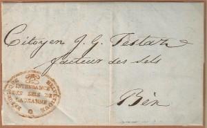 1799 Lausanne à Bex Intendance des Sels