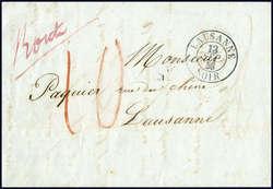1856 Vuarrens-Lausanne Route mentionné par le facteur