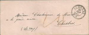 1860 Lettre d'Aubonne à Chexbres