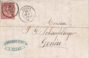 Fédéral décide d'ouvrir un bureau de poste à Ouchy et nomme Jules Perrin avec le titre de buraliste.