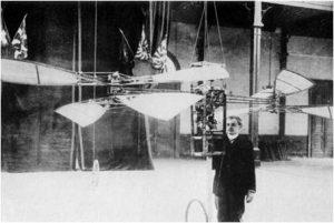 Présentation E.Martin : En 1905 les frêres Dufaux présentent un modèle d'hélicoptère