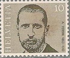 1971 Timbre-poste Suisse du Vaudois Alexandre Yersin