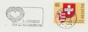 1978 cachet flamme-réclame de Renens