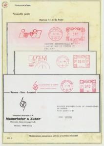 1978 oblitérations flamme-réclame privés de sociétés de Renens