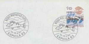 1983 cachet Exphila à Renens