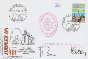 1989 cachet K Renens Village