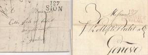 Lettres 1813 et 1812 avec cachets du Département du Simplon 127