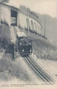 Arrivée train à Caux