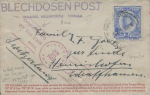 Exemple de TIN CAN MAIL - Blechdosenpost de 1935