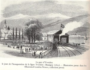 1855 La gare d'Yverdon