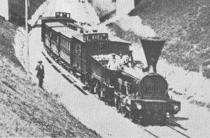 1860 Photo de train entre Lausanne et Renens.