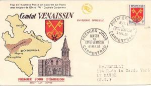 1955 avec le blason du Comtat Venaissin