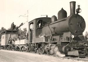 La ligne du LEB fut électrifiée en 1935