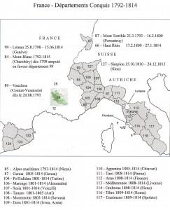 Les Français ont conquis de nombreux territoires, dont certains sont devenus de département français.