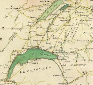 Cette carte montre les liaisons principales entre 1798 et 1848.
