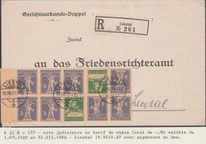 Acte judiciaire - Lettre de convocation collection P. Jaquenoud