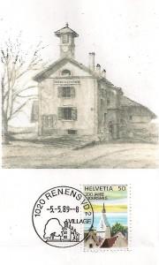 Cachet K de Renens , premier jour 5.5.1989