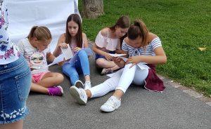 Festimixx 2018 Renens , 4 filles remplissent le concours de la SPR.