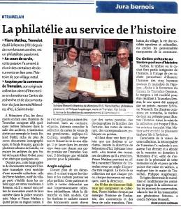 Article paru le 2 mars 2016 dans le Journal du Jura.