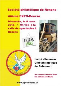 Flyer de la 44ème Expo-Bourse de la SPR à Renens