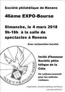 flyer 46ème Expo-Bourse Renens 2018