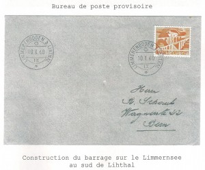 Construction Barrage Linthal 1960
