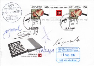 Enveloppe souvenir 125 ans SVPhV