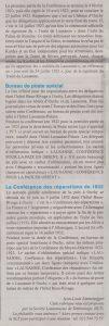 Article de JL.Emmenegger paru dans le no9/2016 journal d'Ouchy sur le thème Ouchy, lieu de conférences de la paix