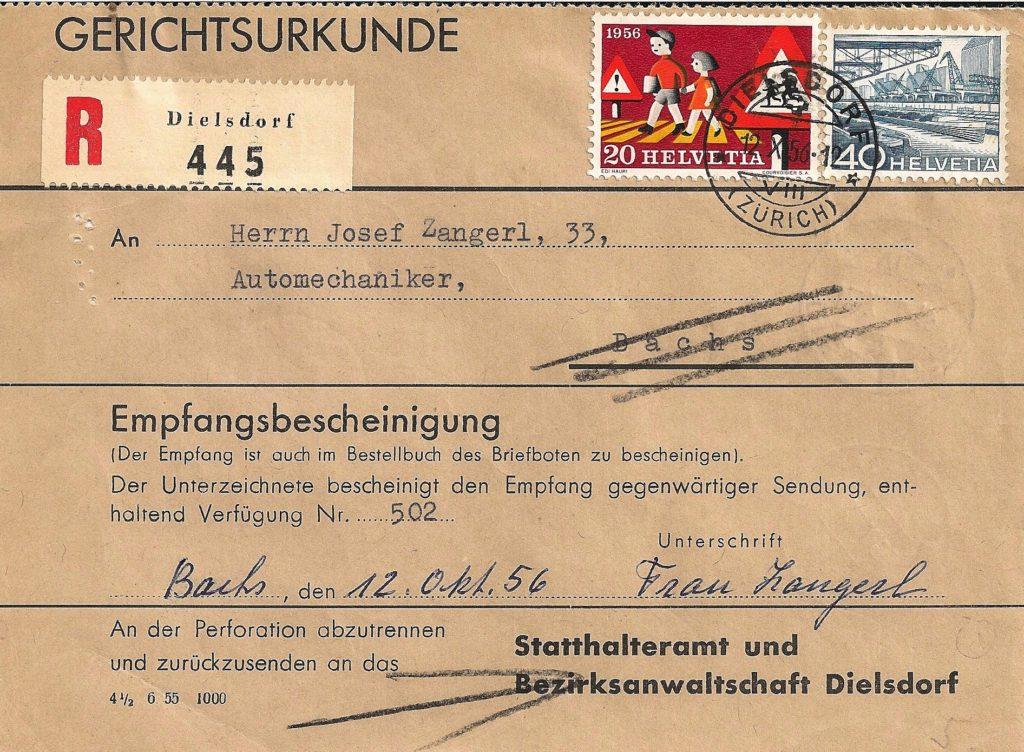 Acte judiciaire 1955