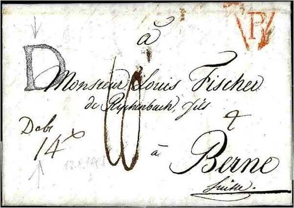Lettre de Paris à Berne