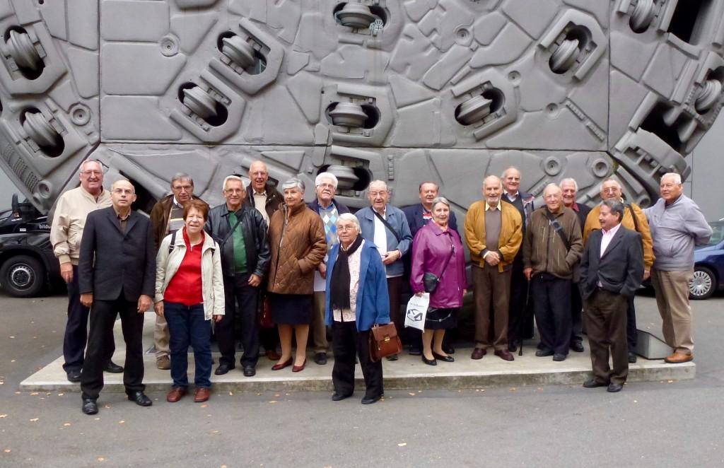 Photo de groupe des membres SPR sortie Musée Erni Lucerne