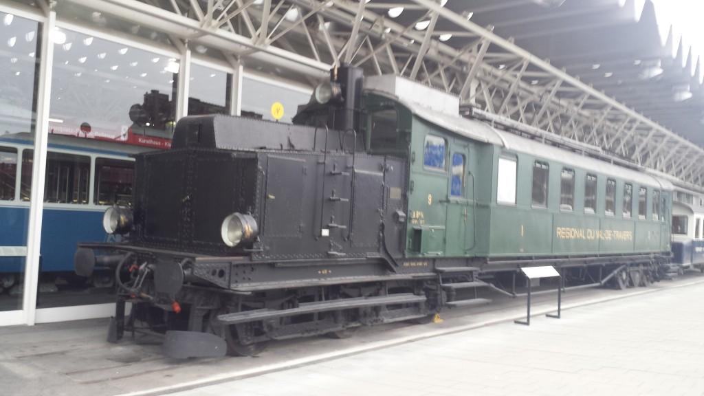 Musée des transports Lucerne Automotrice du train Régional Val-de-Travers- Ernest avait à son temps conduit cette automotrice.